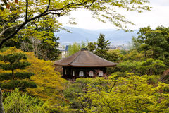 Silver Pavillion in Kyoto, Japan amidst trees Stock Image
