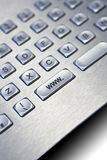 Silver PC keyboard Royalty Free Stock Photos