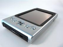 Silver PDA. Satin silver PDA royalty free stock image