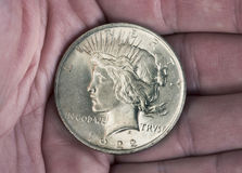 Silver Peace Dollar. Royalty Free Stock Image