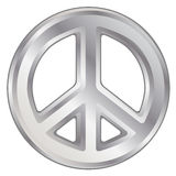 Silver Peace Sign Royalty Free Stock Photo