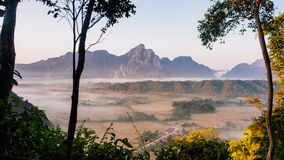 silver peak at Vang Vieng,Laos Stock Photography