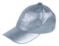 Silver peaked cap Stock Photography