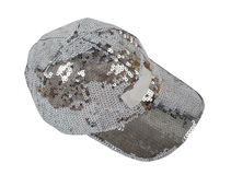 Silver peaked cap Royalty Free Stock Photography