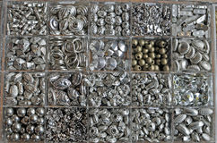 Silver pearls and beads Stock Photography
