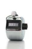 Silver pedometer Stock Photography