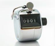 Silver pedometer Stock Photo