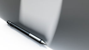 Silver pen Royalty Free Stock Photography