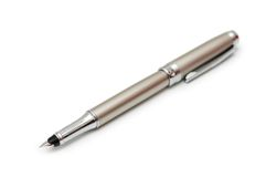 Silver pen isolated Royalty Free Stock Images