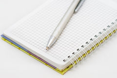 The silver pen and notebook Stock Photo