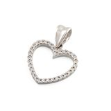 Silver pendant in shape of heart Stock Photography