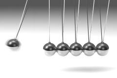 Silver pendulum Royalty Free Stock Image
