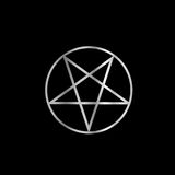 Silver Pentacle Royalty Free Stock Photos