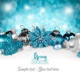 Silver Petrol Christmas Card Stock Photos