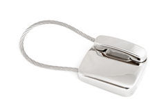 Silver phone trinket Royalty Free Stock Photo