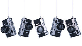 Silver photo camera. Vintage. High resolution 3d. Design made in 3D Royalty Free Stock Images