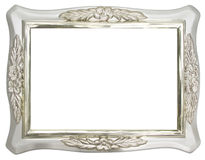 Silver Photo frame Stock Images