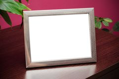 Silver photo frame Royalty Free Stock Photo