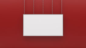 Silver photo frame on red wall 3d rendering. Silver photo frame on red wall high resolution 3d rendering Stock Image
