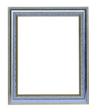 Silver picture frame. On white background Royalty Free Stock Images