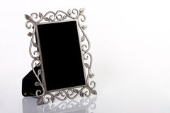 Silver Picture Frame. Isolated on white background stock image