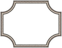 Silver picture frame stock photography