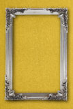 Silver picture frame on background with effects Stock Images