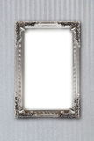 Silver picture frame on background with effects Royalty Free Stock Photography