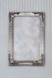 Silver picture frame on background with effects Stock Image
