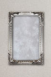 Silver picture frame on background with effects Royalty Free Stock Photo