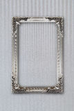 Silver picture frame on background with effects Stock Photos