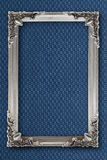 Silver picture frame on background with effects Royalty Free Stock Image