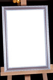Silver picture frame on easel Royalty Free Stock Photography