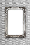 Silver picture frame on gray background with effects Royalty Free Stock Photos
