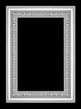 Silver picture frame isolated on black  background Stock Photography