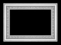 Silver picture frame isolated on black  background Royalty Free Stock Photo