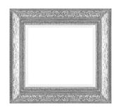 Silver picture frame isolated on white background. The silver picture frame isolated on white background Royalty Free Stock Photography