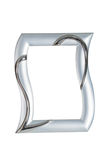 Silver picture frame . Royalty Free Stock Photo