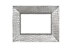 Silver picture frame Royalty Free Stock Images