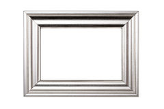 Silver picture frame Royalty Free Stock Photography