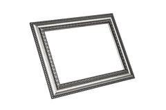 Silver picture frame Stock Image