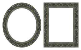 Silver picture frames Stock Photo