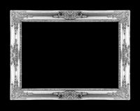 Silver picture frames. Isolated on black Stock Images