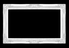 Silver picture frames. Isolated on black background Stock Photography