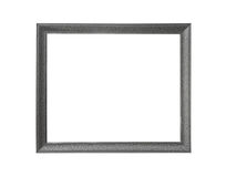 Silver picture frames. on white background Royalty Free Stock Photography