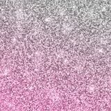 Silver pink glitter background. Vector. Silver pink glitter sparkles background. Vector illustration Royalty Free Stock Image