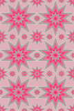 Silver and pink star pattern Stock Image