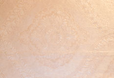 Silver - pink Wallpaper. Flourishes - decorated wallpaper with silver - kind tones Stock Image