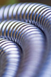 Silver pipe macro Stock Photography