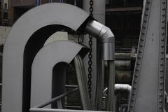 Silver Pipes Haven Industrie Stock Photo